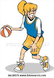 Girl basketball team clipart